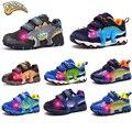 Dinoskavers para niños zapatillas de deporte brillantes niños zapatos de luz Led 3D dinosaurio zapatillas niños correr zapatos deportivos 27-34