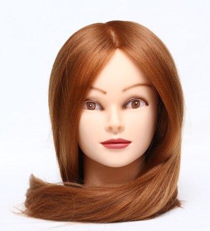 CAMMITEVER 2017 Nouvelle Fiber Cheveux Blonds Mannequin Tête de Mannequin Poupée Coiffeur Mannequin Tête Tête À Coiffer Mannequins