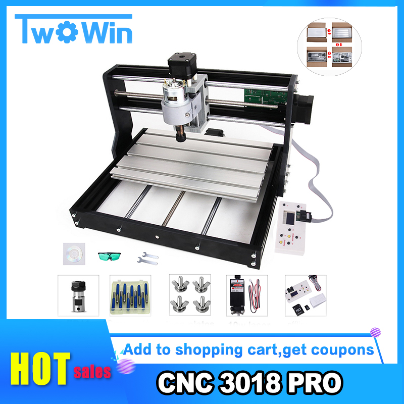 CNC 3018 Pro Laser Engraver Wood CNC Router Machine GRBL ER11 DIY Mini Engraving Machine For Wood PCB PVC With Offline Controlle