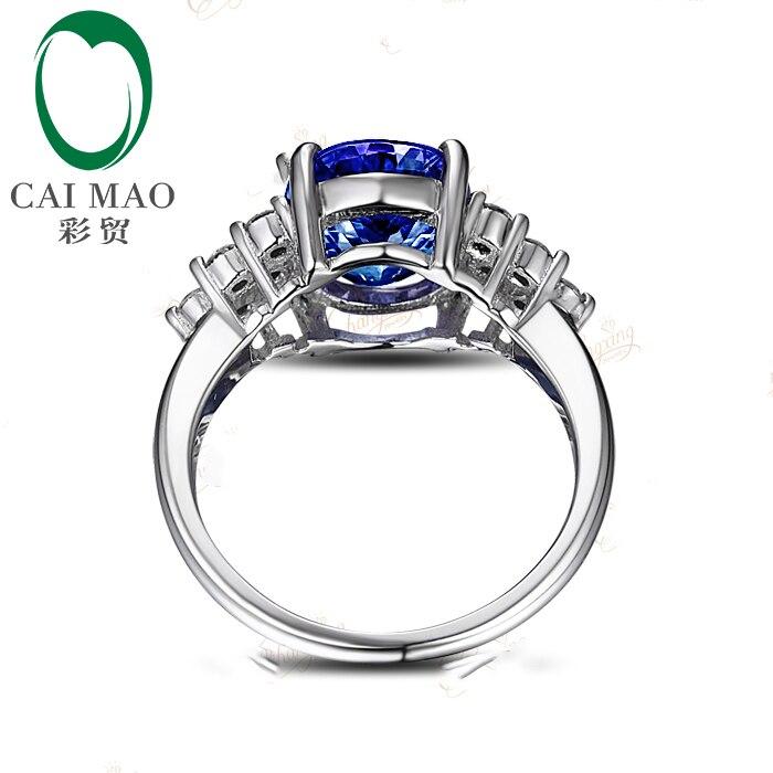 #983 Naturel Bleu Violet Tanzanite Boucles d/'oreille-Argent Sterling .925-14k Plaqué Or