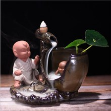 Backflow Incense Burner Mountain Water Creative Ornaments Ceramic Crafts Buddhist Supplies