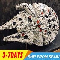 Бесплатные покупки 05132 MOC Звездный Разрушитель Millennium 75192 Кирпичи Модель Строительные блоки Сокол развивающие игрушки войны