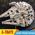 O envio gratuito de 05132 Star Destroyer 75192 Tijolos de Blocos de Construção do Modelo de Colecionadores Final Do Milênio Falcon Brinquedos Educativos GUERRA