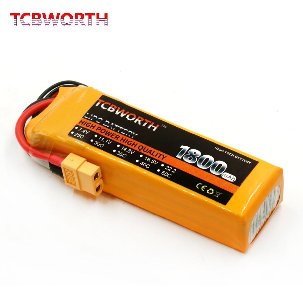 TCBWORTH 3 s 11.1 v 1800 mah 60C Max 120C RC LiPo batterie Pour RC Avion Drone Quadrirotor Haute Taux cellulaire RC Li-ion batterie