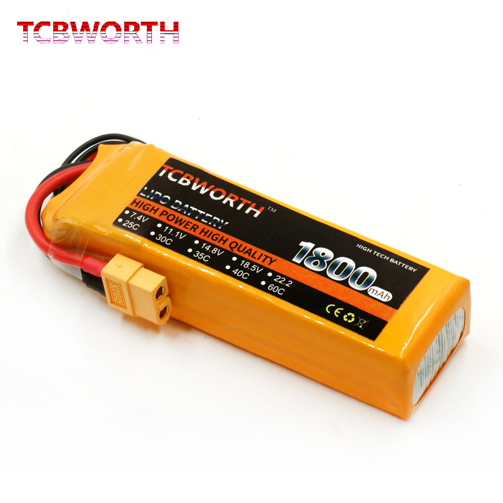 TCBWORTH 3S 11.1V 1800mAh 60C Max 120C RC LiPo battery For RC Airplane Drone Quadrotor High Rate Cell RC Li-ion battery tcbworth 11 1v 3300mah 60c 120c 3s rc lipo battery for rc airplane helicopter quadrotor drone car boat truck li ion battery