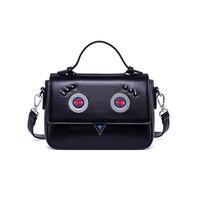 KEYTREND Women Leather Handbag Little Monster Eye Rivet Messenger Bag Female Shoulder Crossbody Bag Cute Small