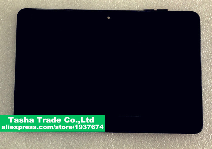 Black Full LCD DIsplay Touch Screen Digitizer frame Bezel Replacement For ASUS Transformer Book T101HA