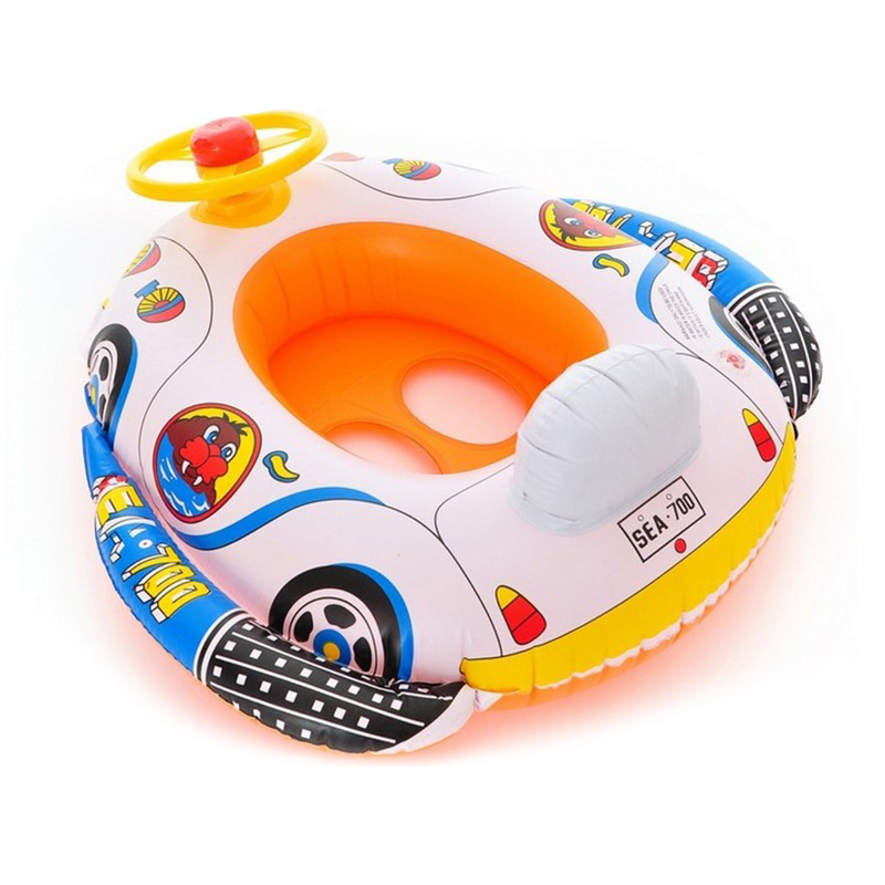 Cute Baby Inflatable Swimming Pool Ring Seat Floating Car Shape Boat ...