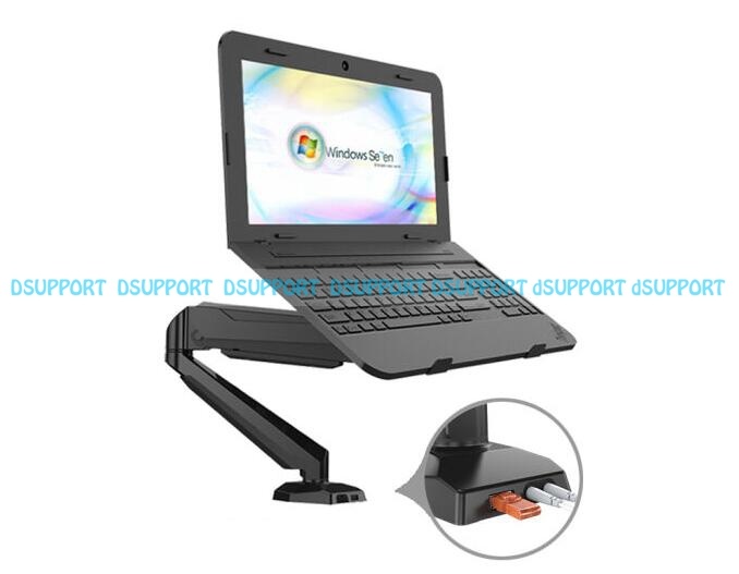 GM212U-D Full Motion Desktop Notebook Laptop Holder Display Mount Bracket With Audio and USB Port 17 inch Lapdesk