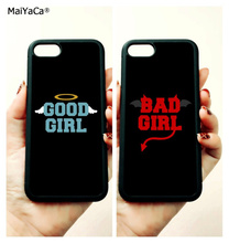 BFF good bad girls best friends soft edge mobile phone cases for apple iPhone x 5s SE 6 6s plus 7 7plus 8 8plus XR XS MAX cover
