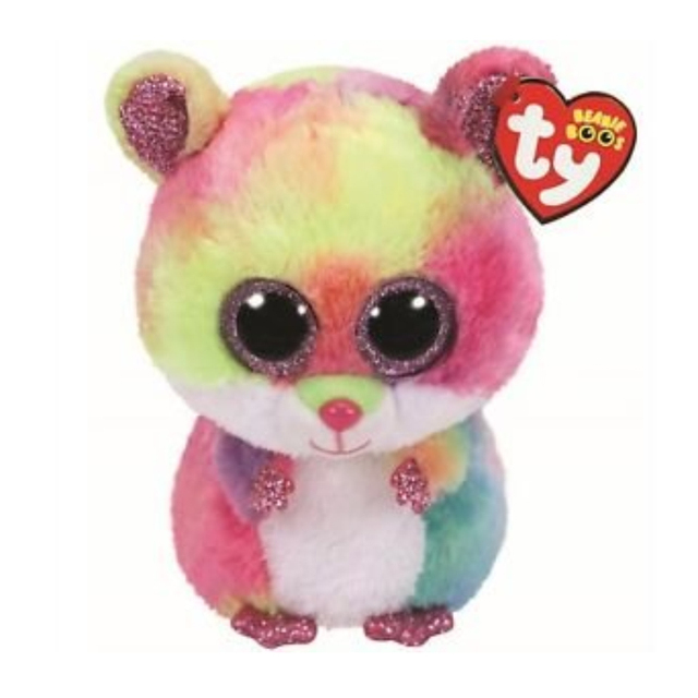 4360060ffbe Ty 6   15CM Beanie Babies Boos Rodney the Pink Hamster Mouse Boo Buddy  Plush Regular Soft Stuffed Animal Collection Dol