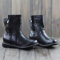 รองเท้าผู้หญิงสีดำสั้นPlush100หนังแท้ของผู้หญิงฤดูหนาวรองเท้าบู๊ทยางแต่เพียงผู้เดียวสุภาพส...