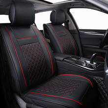 Only Front Leather Universal Car seat cover For Peugeot 307 206 308 407 207 406 408 301 3008 5008 car accessories car-styling 2018 hot sale sale words car case for citroen c2 c4 c5 ds 3 4 5 ds6 ds5 peugeot 307 206 308 207 406 408 301 trim board sub