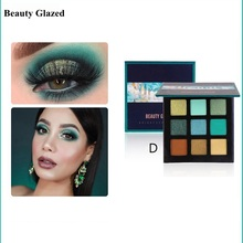 Beauty Glazed New 5 Style Makeup Eyeshadow Pallete 9 Color Matte Glitter Make up Palette Shimmer Pigmented Eye Shadow Maquillage