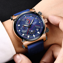 LIGE Fashion Watch Men Analog Quarts Watches Blue Man Wrist Watch 2019 Mens Watches Top Brand Luxury Casual Clock Montre Homme fashion stainless steel mens analog automatic watches men wrist watch 2019 mens watches top brand luxury casual watch sapphire