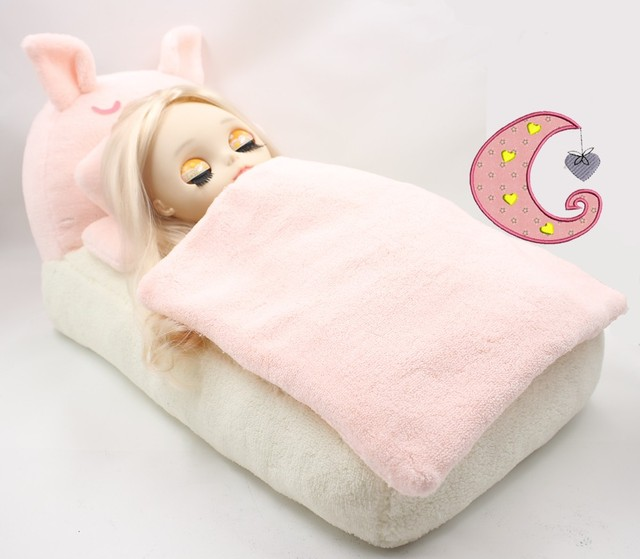 Blyth кукольные Срединная мини ледяной постель с игрушкой мягкий розовый поросенок кровать диванные подушки