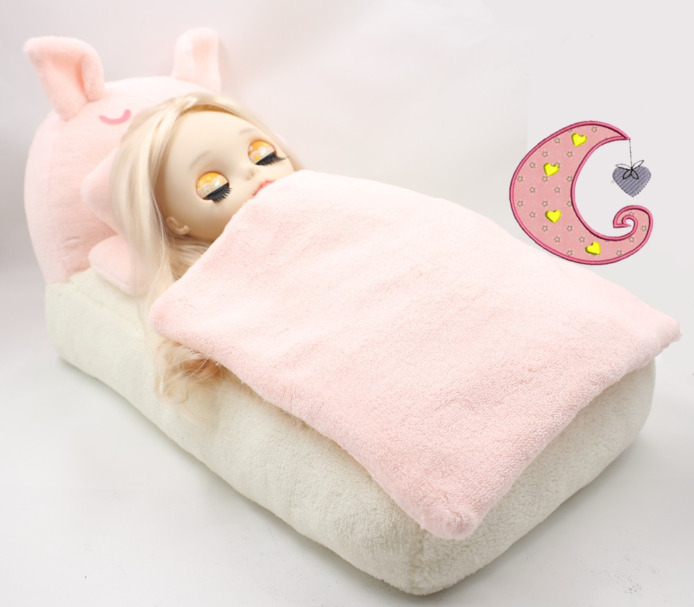 Free Shipping For Blyth Doll Middie Mini Pink Pig Bed Sofa Pillows
