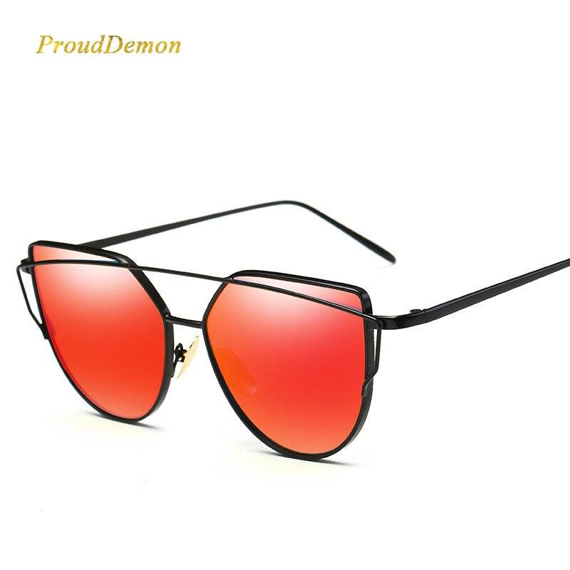 a66e18afd9f 2018 Cat Eye vintage Brand designer rose gold mirror Sunglasses