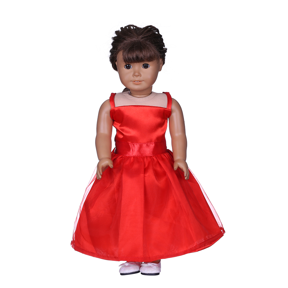18 inch american girl doll full dress red sexy wedding clothes dress
