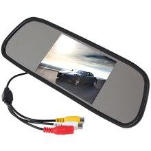 Brand New Brand New Super 480×272 5 Pulgadas de Color Pantalla de Ángulo de Visión Amplio TFT LCD Espejo Retrovisor Del Coche Monitor