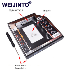 WEIJINTO Universal SATA 3.0 2nd SSD HDD Caddy 9.5mm for 2.5