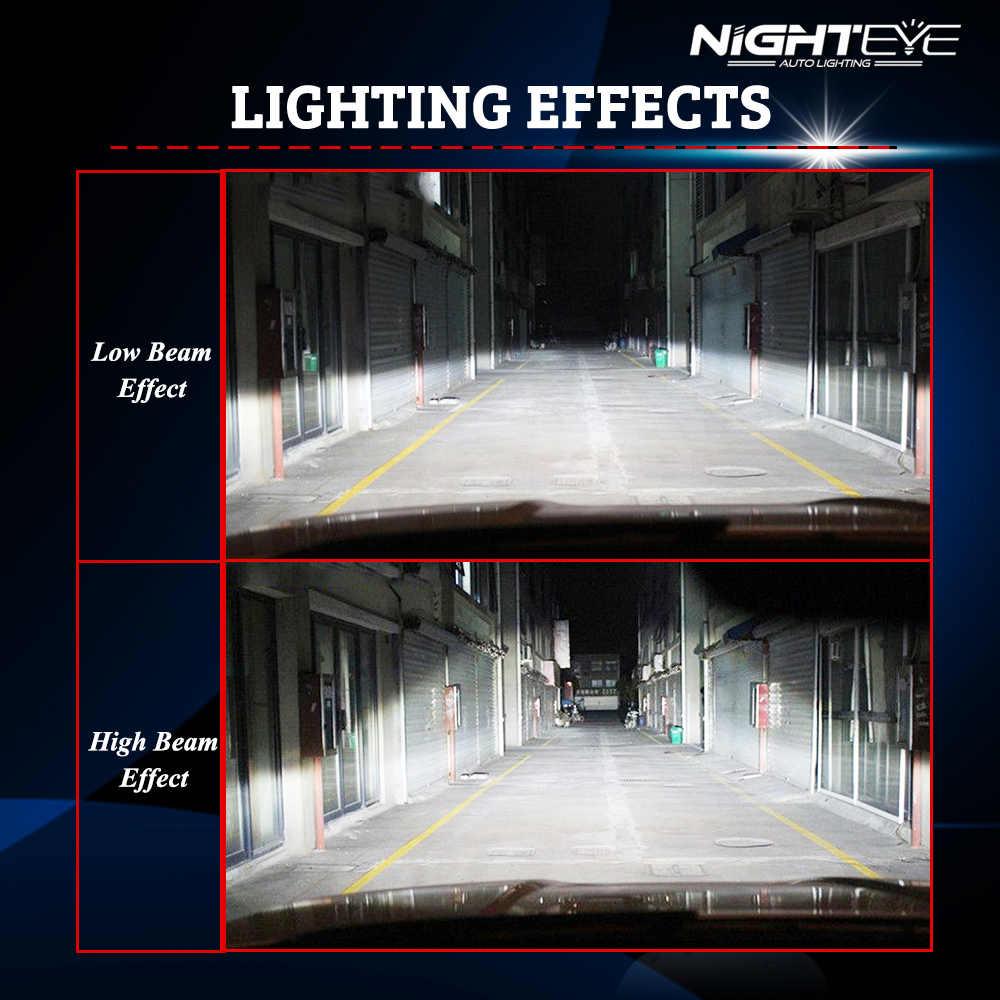 NIGHTEYE 2Pcs Auto H1 H11 LED headlight bulbs fog lamp H4 H7 H8 9005 9006 motorcycle headlight bulbs 72W 9000LM Automobiles Lamp