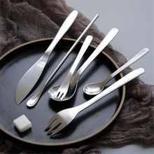 Scrub Stainless Steel Knife Fork Rose Gold Spoon Matte Matching High Quality Matte Knife Fork Set(China)