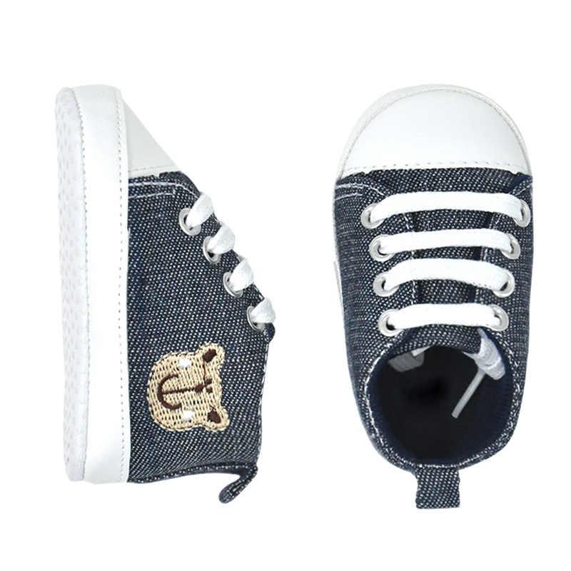 Fashion Bayi Sepatu Klasik Olahraga Kanvas Sepatu Bayi Balita Anti-Slip Lembut Sole Crib Sepatu Anak Laki-laki Yang Baru Lahir Pertama Anak Perempuan pejalan Kaki