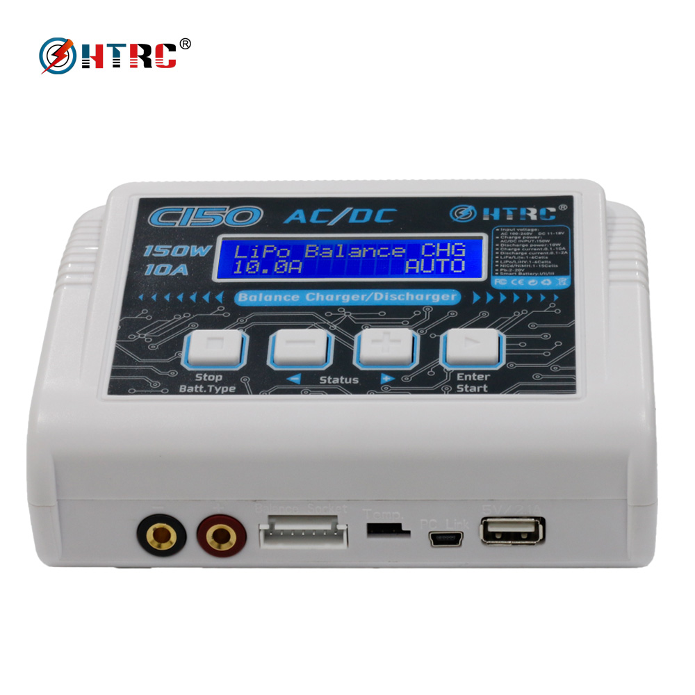 HTRC C150 AC/DC 150W 10A RC Balance Charger discharger for LiPo LiHV LiFe Lilon NiCd NiMh Pb battery htrc t240 duo ac 150w dc 240w touch screen dual balance charger discharger for rc battery lipo lihv life lilon nicd nimh pb