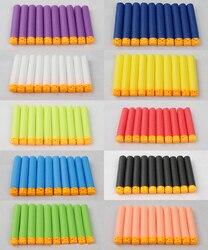 100 Pcs Hohl Weichen Kopf 7,2 cm Refill Darts für Nerf Serie Blasters NEUE STIL Kid Spielzeug Pistole Clip EVA kugeln