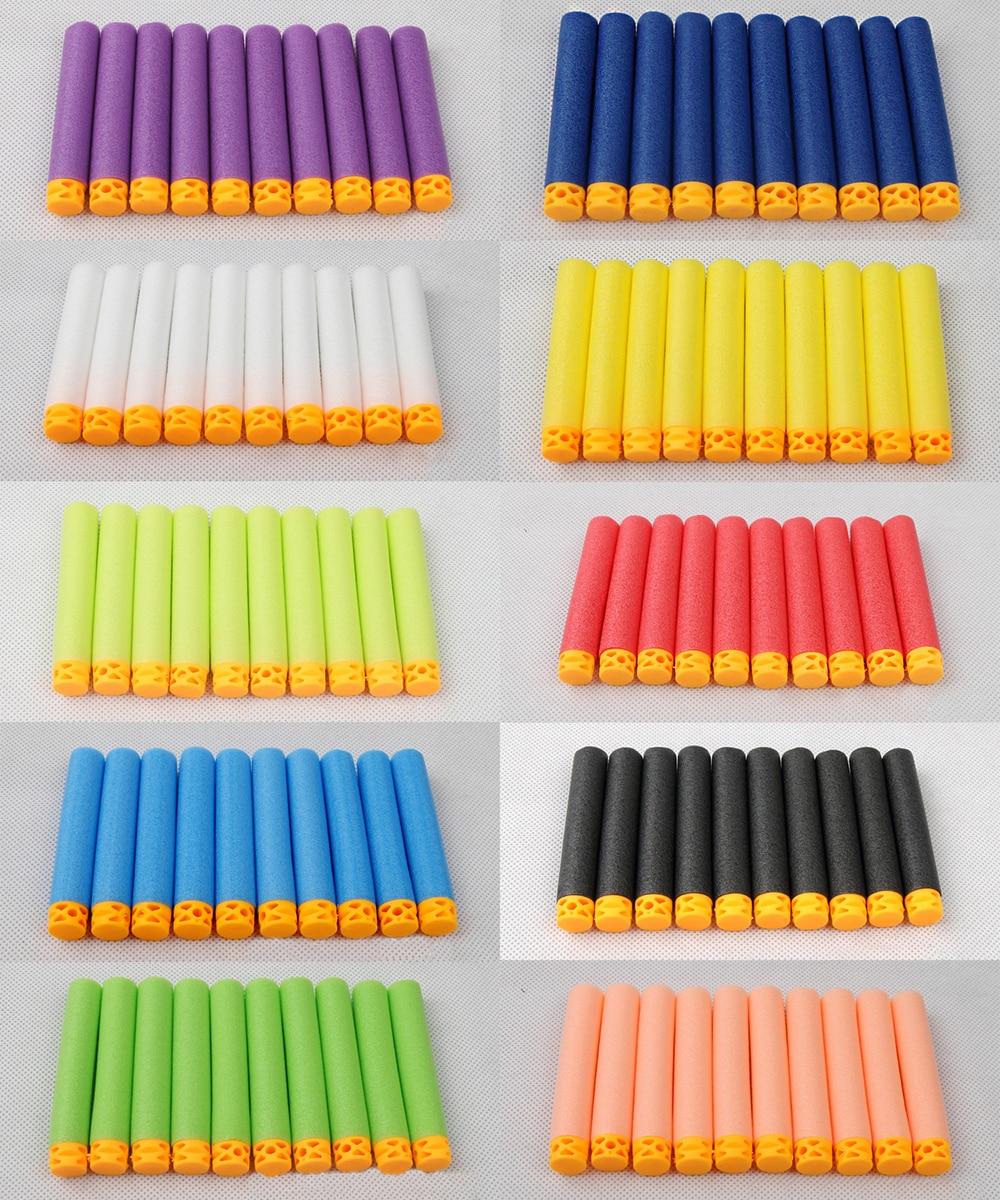 100 Pcs Hollow Soft Head 7.2cm Refill Darts for Nerf Series Blasters NEW STYLE Kid Toy Gun Clip EVA Bullets soft foam bullets whistle for gun pistol toy orange blue 10pcs