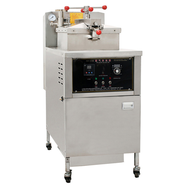 25L Commercial LPG Gas Deep Oil Fryer Stainless Steel Chicken Pressure