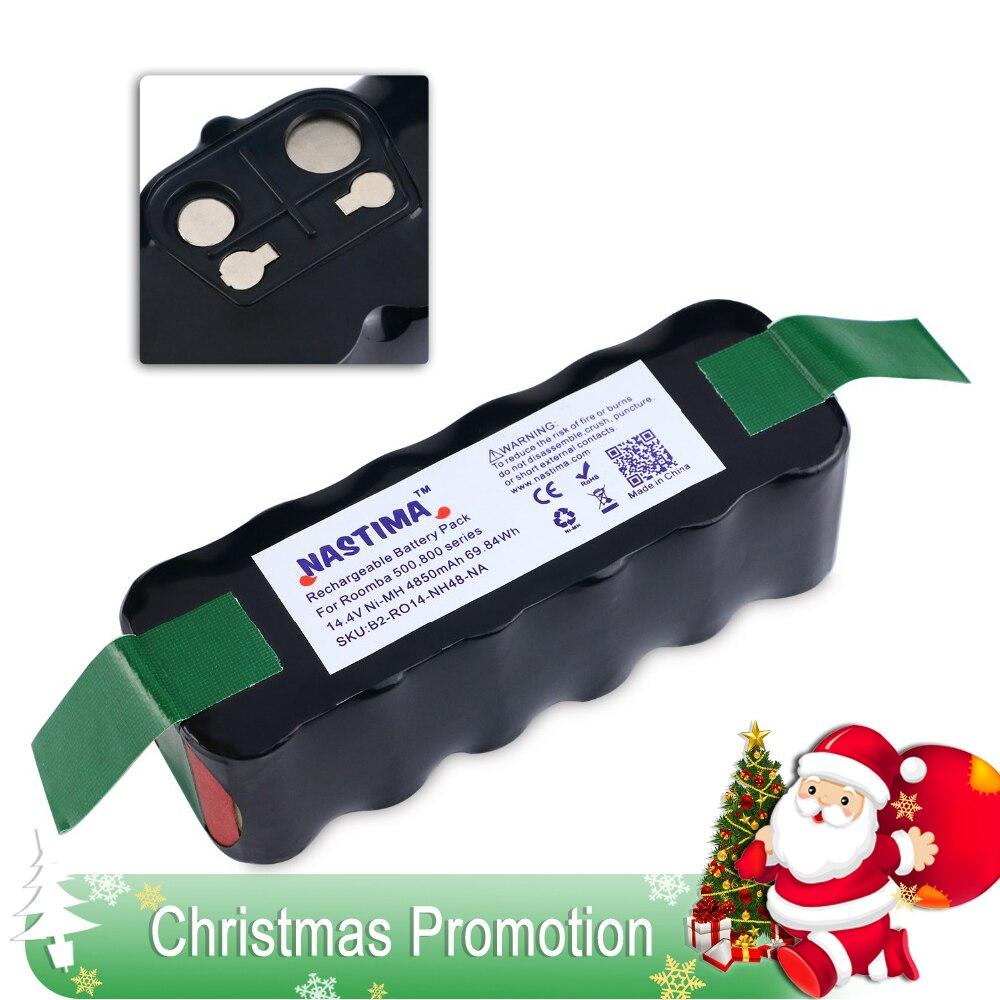 NASTIMA 14,4 V 4850 mAh batería para Roomba 500 de 600 a 700 de la serie 800 de Robots 600, 620, 650, 700 770, 780 de 800 [UL y CE enumerados.