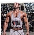 VXO Muscle Imprimir Singlet Tank Top Men Chaleco de la Aptitud Bodybuilding Stringer Regatas de Oro Camisa Sin Mangas de la Ropa de Algodón