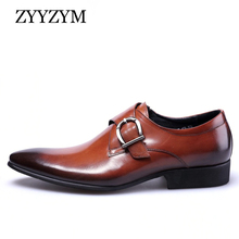 ZYYZYM Men Formal Shoes Leather Plus Size 38-48 Wedding Fashion Point Toe Party  Dress