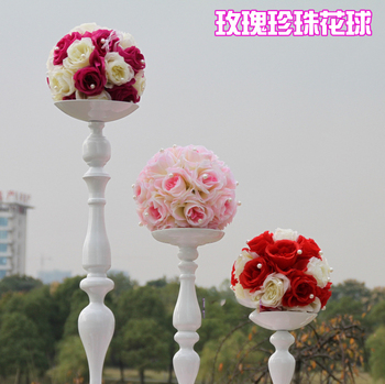 Diameter 20cm Wedding Round flower decoration many color flower for road lead or wedding roman column 10pcs/lot
