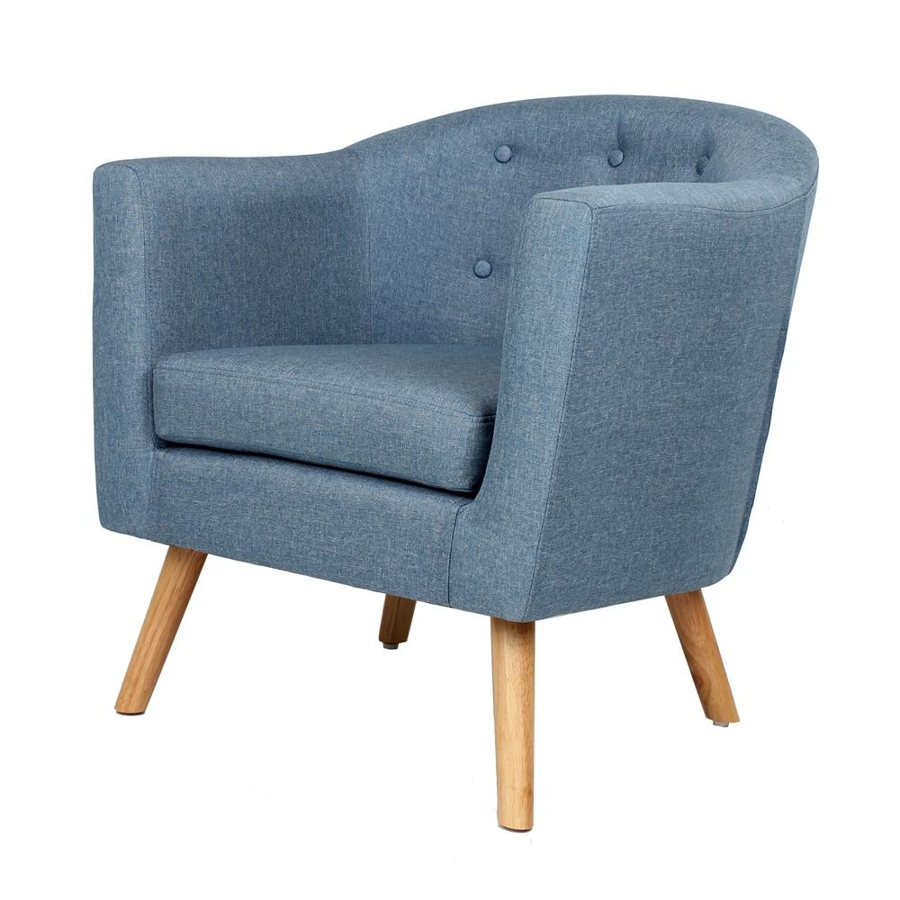 Small Imitation Linen C Type Backrest Single Sofa Chair