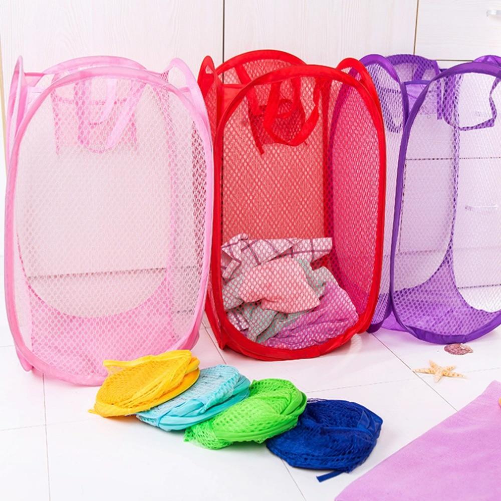 Laundry Bag Pop Up Mesh Washing Foldable Laundry Basket Bag Bin Hamper Storage 50% OFF Laundry Carts, Bags & Cleaners
