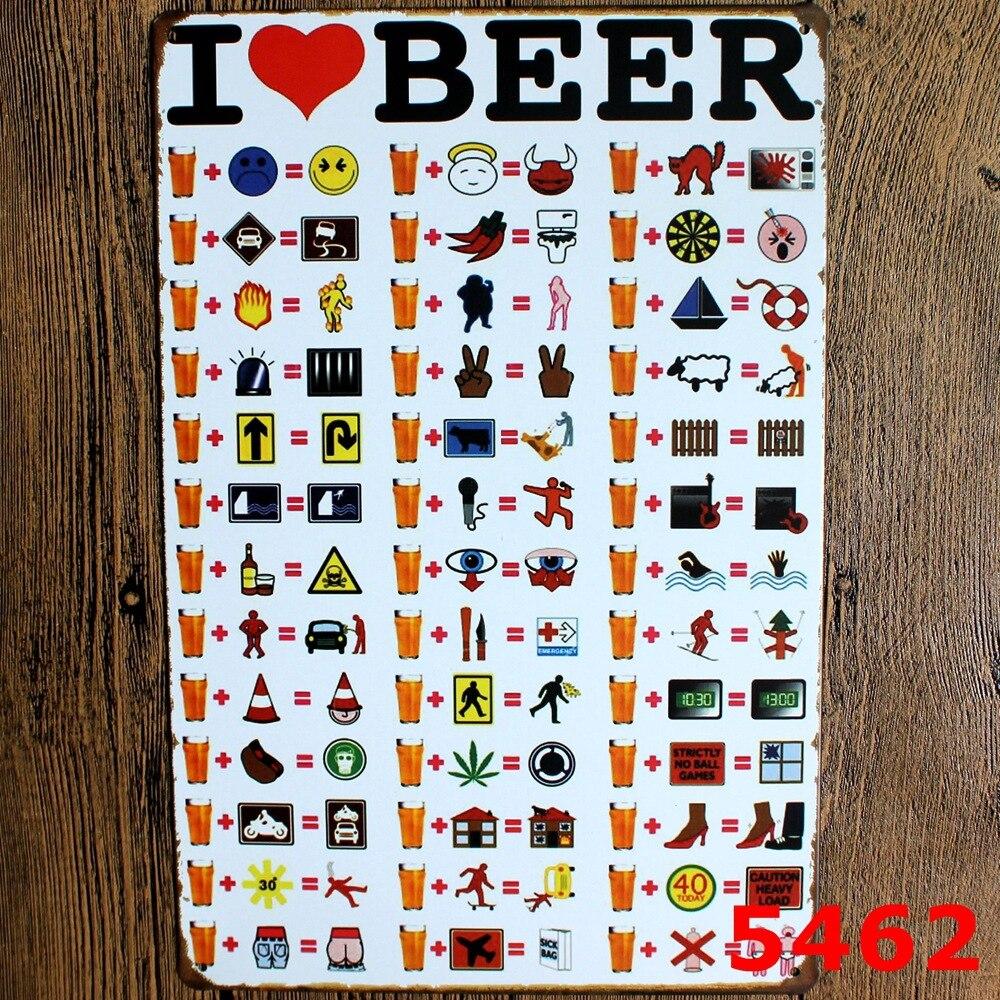 9c9eaff333 Vintage placas signos metal pintura cartel estaño Beer Art decor retro  placas casa pared 20x30 cm LJ-4551