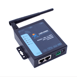 Serial RS232 RS485 to WiFi Ethernet Converter Industrial 2 Ethernet Ports Server Device Support Modbus RTU to TCP USR-W630 Q044