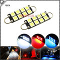 "4pcs 8-SMD-1210 1.72"" 43mm 211-2 212-2 214-2 561 Rigid Loop Festoon LED Bulbs For Car Side Door Courtesy Lights"