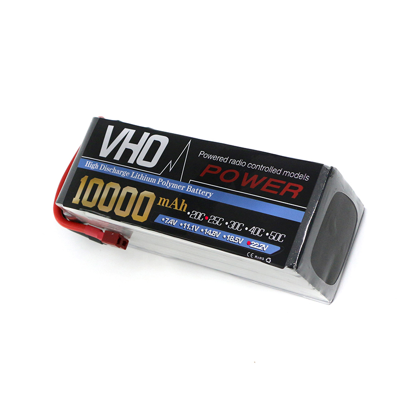 VHO 6S Lipo 22.2V 10000Mah Lithium Battery EC5 or T or XT60 XT90 XT150 or TRX  plug For RC Helicopter Qudcopter Drone Car Boat zop lipo battery 11 1v 2200mah 3s 30c max 35c xt60 t plug for rc helicopter qudcopter drone truck car boat