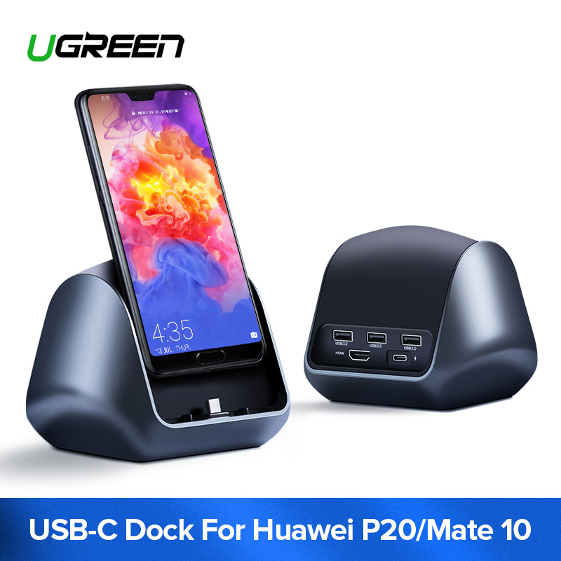 Ugreen USB C HUB Type C to 3.0 HUB HDMI Adapter for Huawei P20/P20 Pro Mate 10/Mate 10 Pro Mate RS USB-C Dock Station Type C HUB аксессуар 5bites hdmi 19m v1 4b 3d 5m apc 185 005