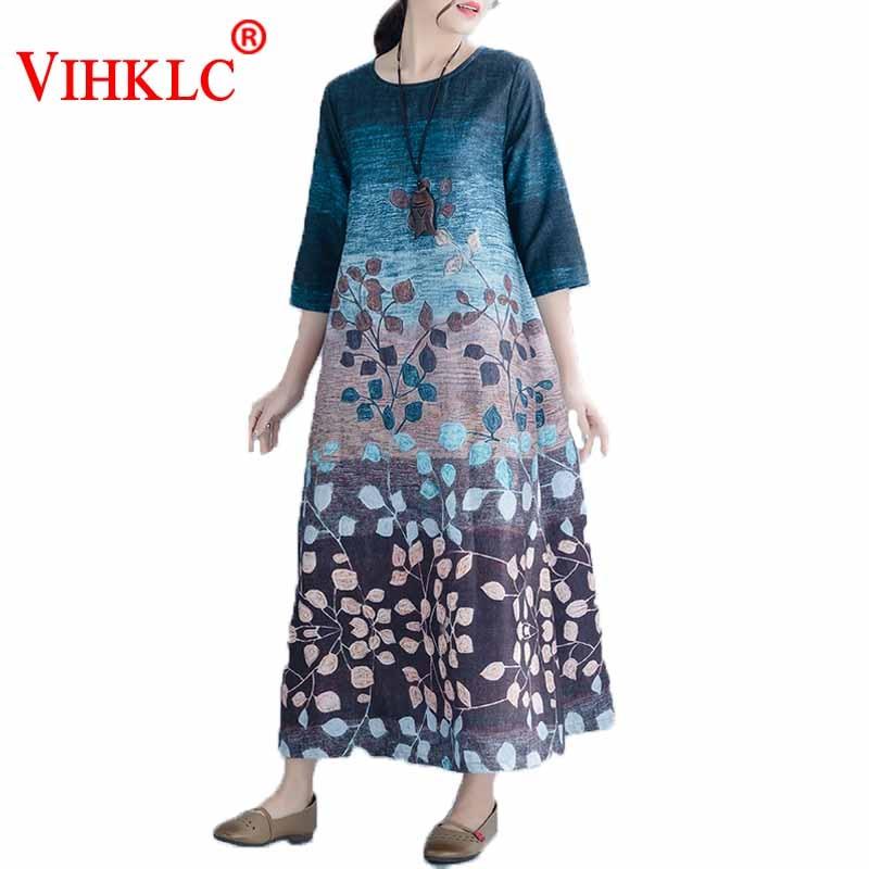 821cce6c Duży rozmiar naturalne sukienka jedwabna es 2017 lato kobiet Retro ...