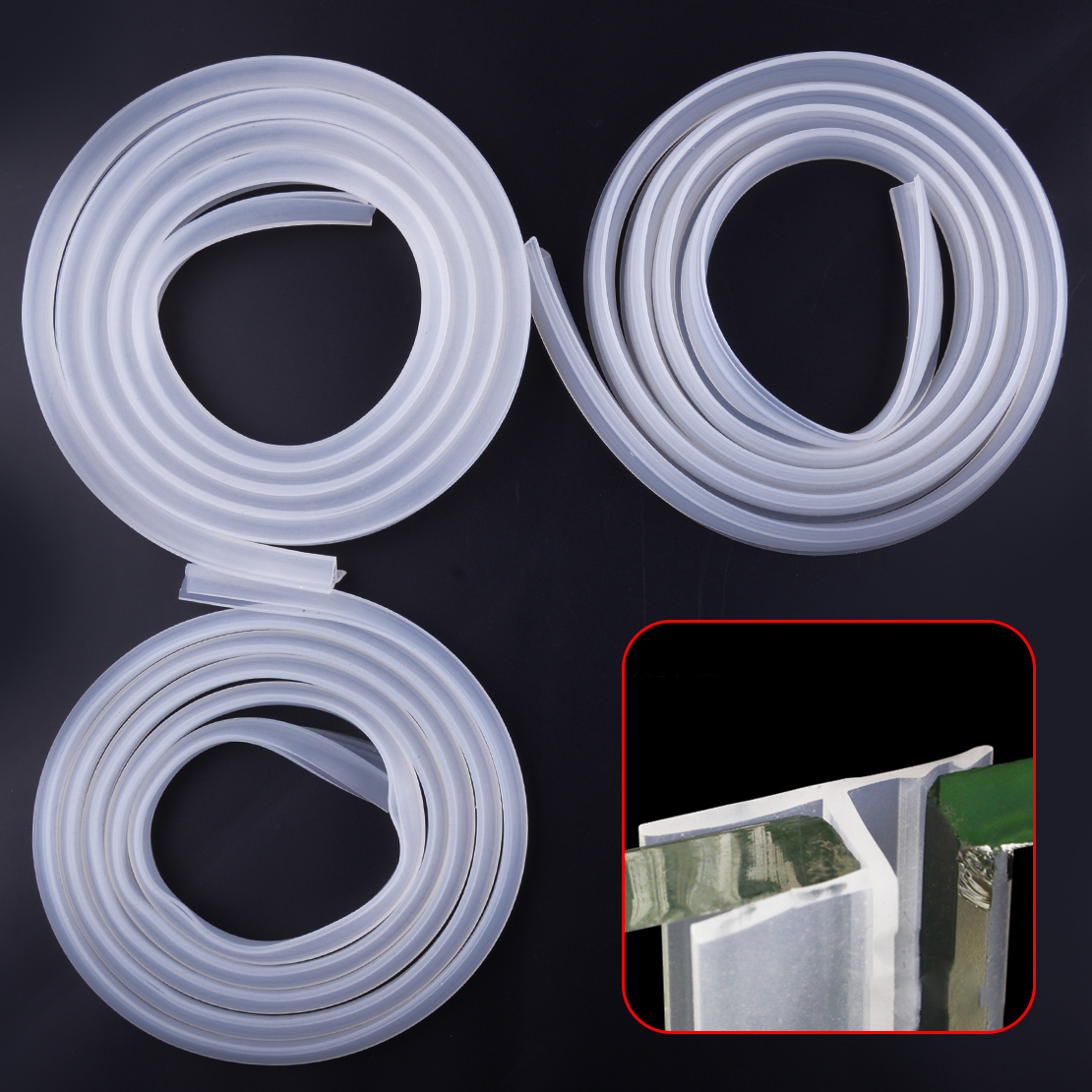 Us 7 59 24 Off 2m Rubber Silicone Bath Shower Room Screen Door Window Seal Strip Gap Curved Flat 0 6cm 1cm 1 2cm In Bathroom Accessories Sets From