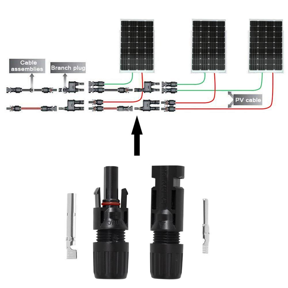 PowMr 20 Pairs Solar Panel Connector Male and Female + 1pair Spanner Fit For Solar Cable Cross Sections 2.5mm2~6.0mm2 IP67