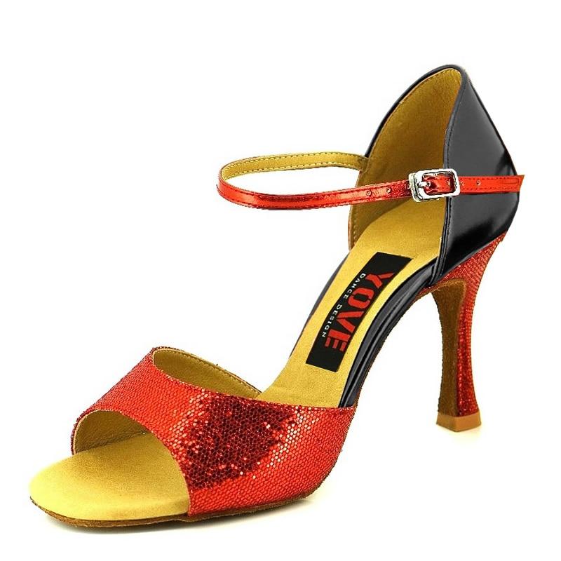 YOVE Style w133-13 Këpucë vallëzimi Bachata / Salsa Këpucë - Atlete - Foto 4