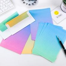 FangNymph конверты с градиентом милые Kawaii Цветочные Письма бумажный набор для детей подарок школьные принадлежности Школьные принадлежности