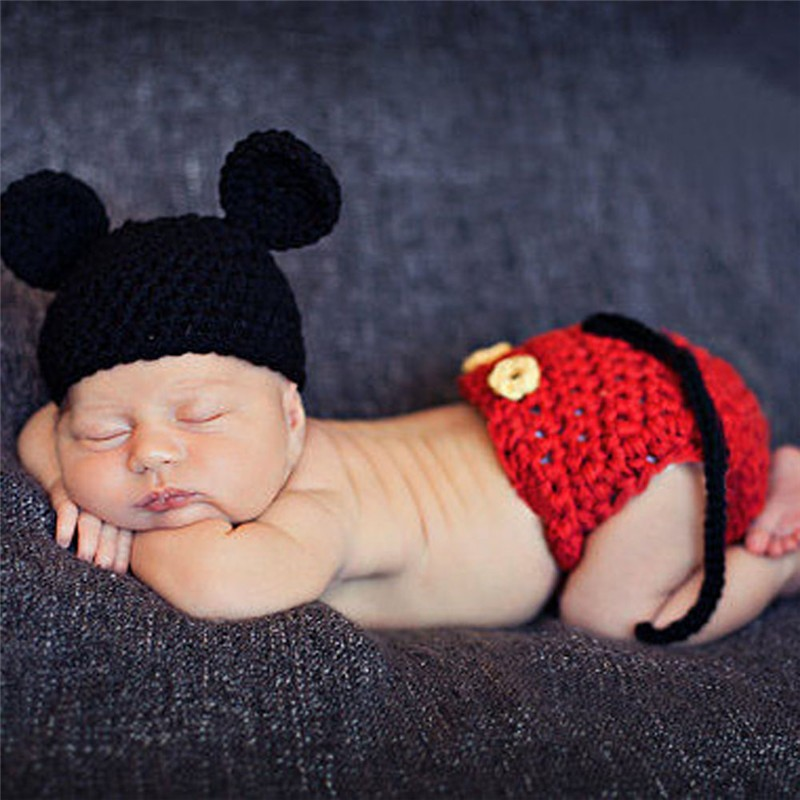 Bebé recién nacido accesorios de fotografía accesorios de punto de ganchillo navidad apoyos de la foto bebé sombrero gorras recién nacido crochet trajes