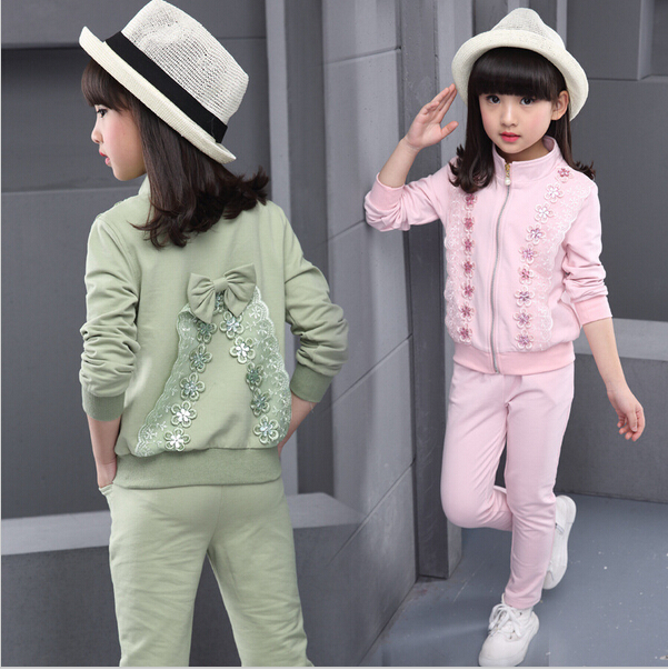 Kid Sports Wear Girl's Autumn Sets Children Tracksuits Sports suit Girls Clothing Sets Sports Suits Baby Girl Jacket Pants Set spring newborn suits new fashion baby boys girls brand suits children sports jacket pants 2pcs sets children tracksuits